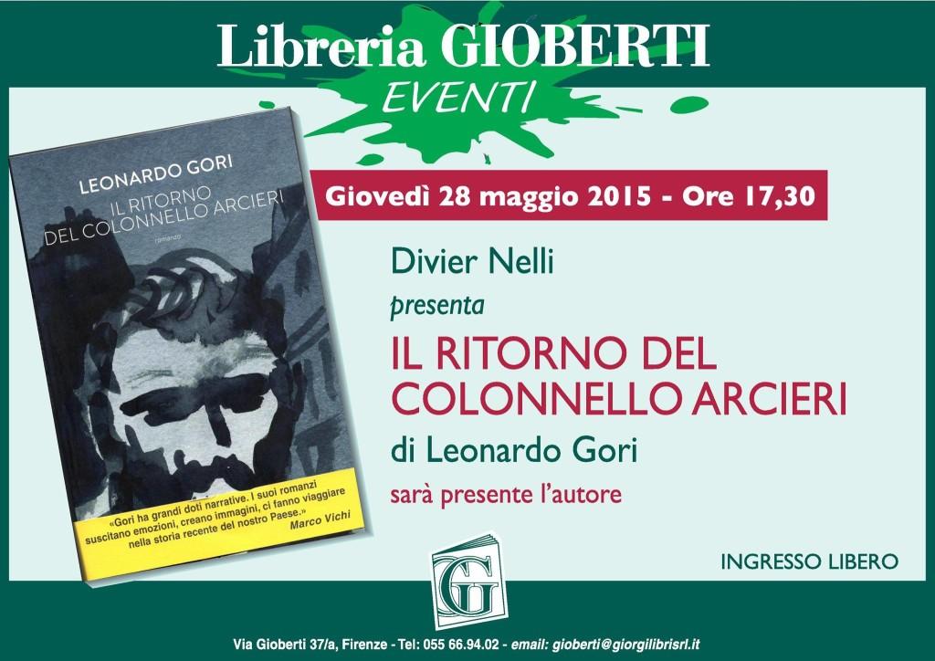 Libreria gioberti Firenze giovedì 28 maggio
