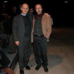 Leonardo Gori con il suo agente e angelo custode Piergiorgio Nicolazzini.